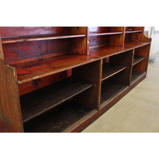 Rustic Vintage Mid 20th Century American Department Store Shelves For Sale - Image 3 of 5