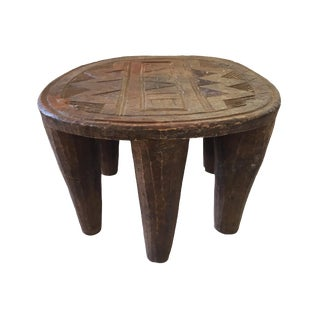 "African Old Nupe Low Stool I Coast 9"" H"