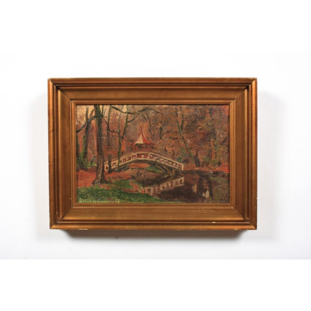 1920s Chinese Bridge by Clemmen Clemmensen, 1928 For Sale - Image 5 of 5