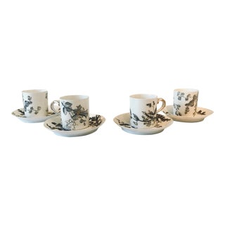Late 19th Century Charles Field Haviland Demitasse Cup and Saucer Set of 8 For Sale