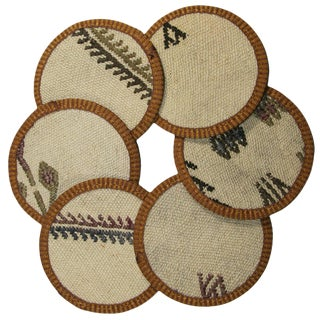 Rug & Relic Kilim Coasters Set of 6 - Poyrazlar