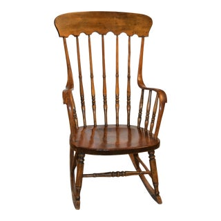 Vintage Wood Rocking Chair For Sale