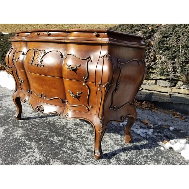 Brown 1990s Italian Crafts Credenza Server For Sale - Image 8 of 11