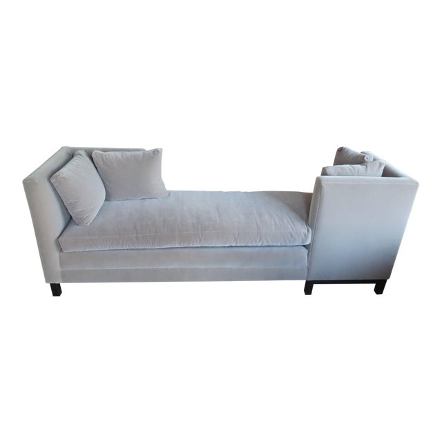 Textile Modern Mid-Century Harvey Probber Tete-A-Tete Gray Sofa For Sale - Image 7 of 7