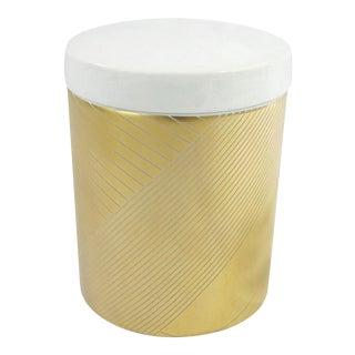 Gilded Modernist Porcelain Box For Sale