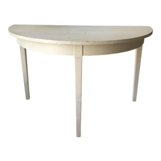 1960s Light Gray Demi-lune Table For Sale