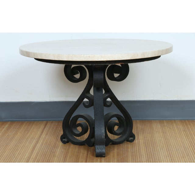 Wrought Iron Small Side Table - Image 3 of 11
