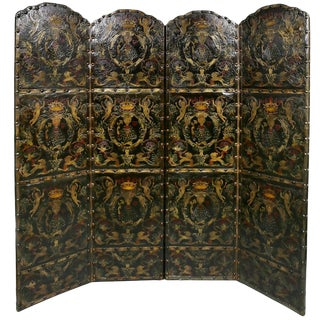 Four Screen Leather Embossed Panel For Sale