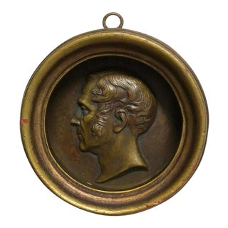 19th Bronze Plaque of French Composer Daniel Francois For Sale