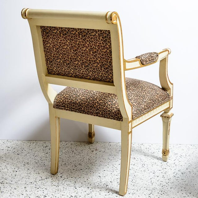 Louis XVI Leopard Upholstered Bergere Chairs - a Pair For Sale - Image 4 of 10
