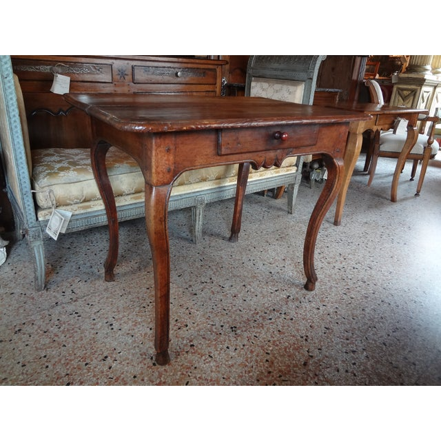 Louis XV Walnut Side Table For Sale - Image 11 of 11