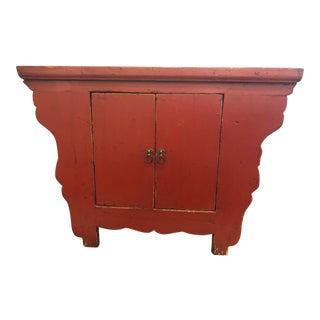 Vintage Asian Inspired 2-Door Cabinet For Sale
