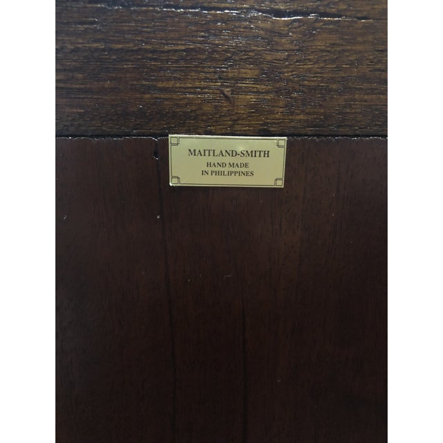 Hollywood Regency Maitland-Smith Carved & Tooled File Cabinet For Sale - Image 11 of 13