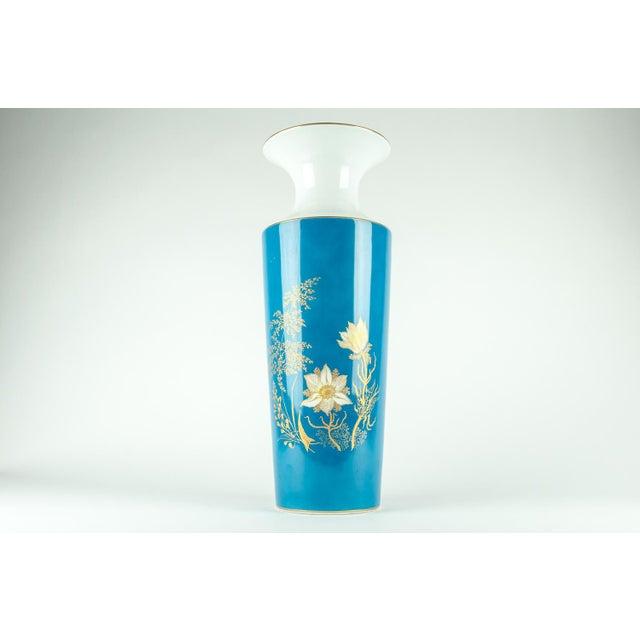 Very Tall Vintage Bavarian Porcelain Vase For Sale - Image 9 of 9
