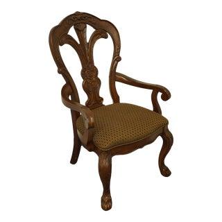 Bernhardt Furniture Walnut Italian Provincial Dining Arm Chair 357-556 For Sale