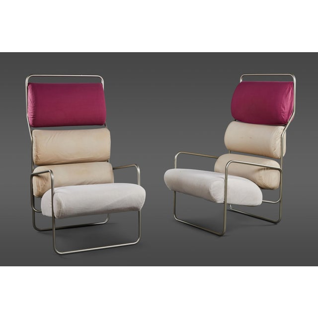 "Pair of Achille Castiglioni ""Sancarlo"" Tubular Metal Chairs for Driade For Sale - Image 9 of 9"