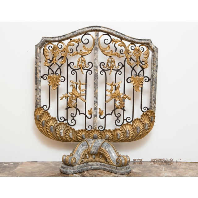 Antique Marble Fireplace Screen - Image 2 of 8