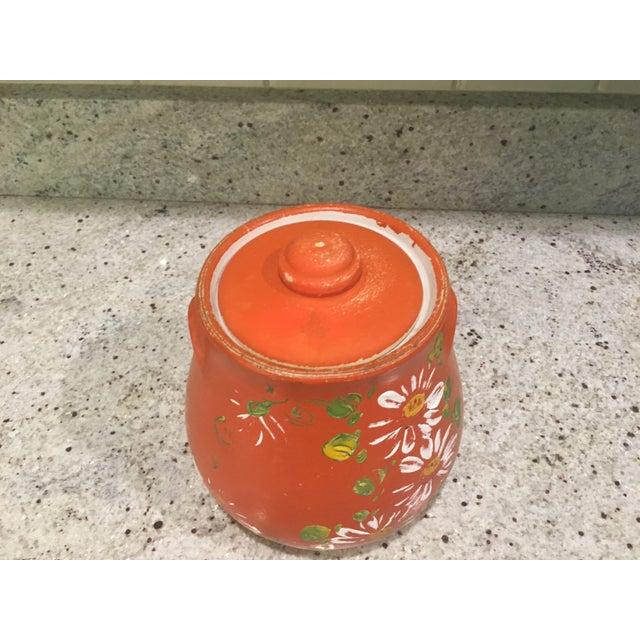 Orange Floral Cookie Jar - Image 6 of 8