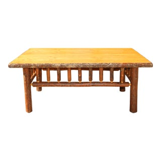 Vintage Cabin Apple Wood Coffee Table For Sale
