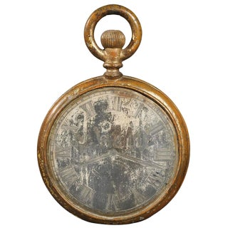 Late 19th Century French Tole Clock Face / Pocket Watch Trade Sign