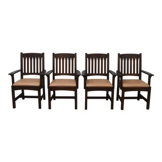 Stickley Mission Oak Dining Chairs- Set of 4 For Sale