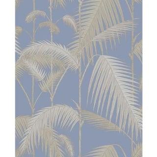 Cole & Son Palm Jungle Wallpaper Roll - Straw & Blue For Sale