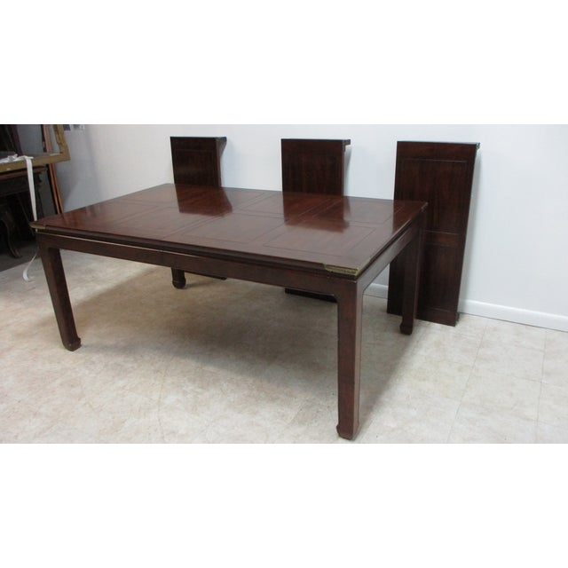 Chippendale Henredon Pan Asian Dining Room Conference Table For Sale - Image 13 of 13