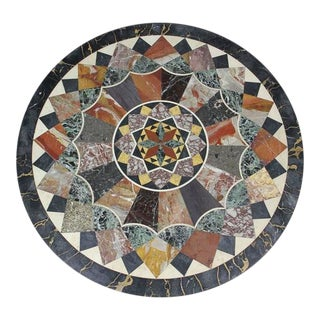 Etruscan Revival Specimen Marble Table For Sale