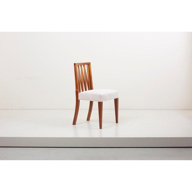 Wood Newly Restored Set of 8 Lattice Back Dining Chairs Attributed to Paul T. Frankl For Sale - Image 7 of 13