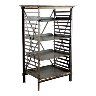 Industrial Blue Metal Adjustable Shelf Unit