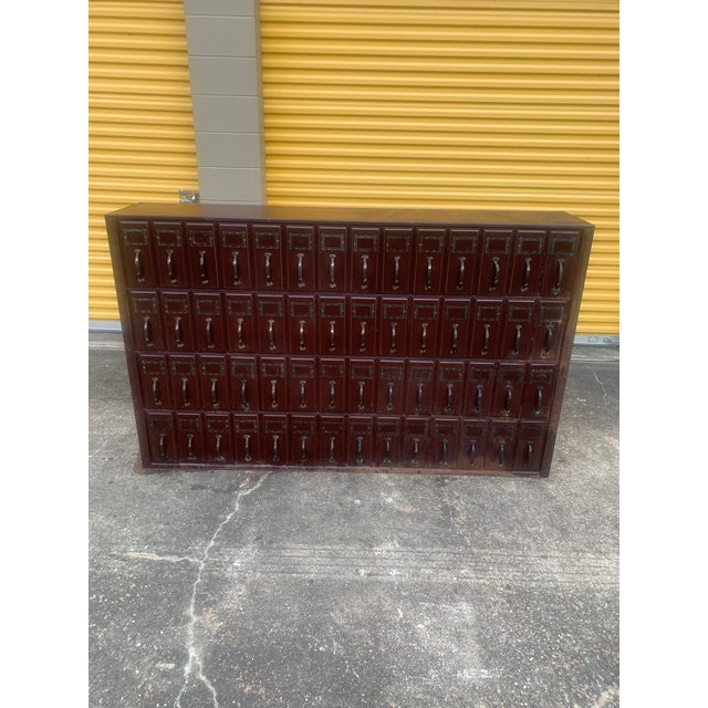 Mid 20th Century Vintage Industrial File Cabinet For Sale - Image 11 of 11