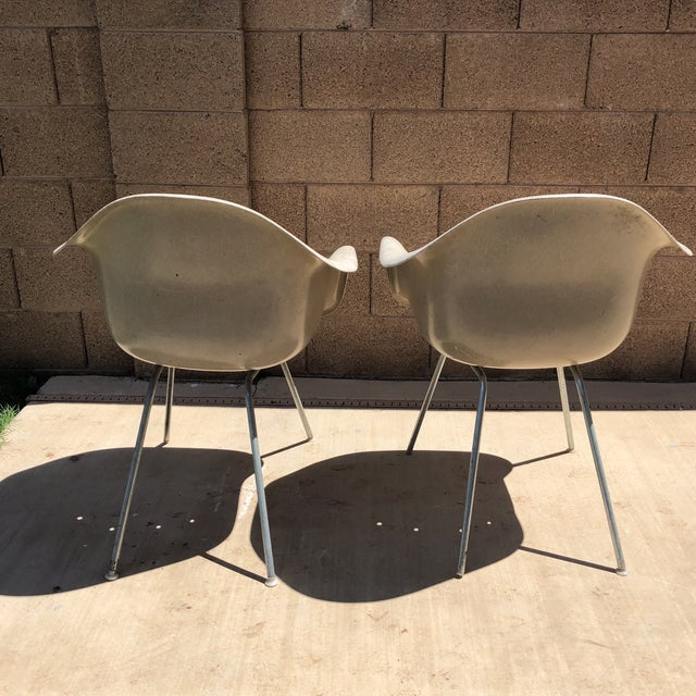 Industrial Vintage Eames for Herman Miller Shell Chairs - a Pair For Sale - Image 3 of 10