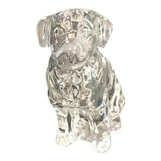 Baccarat Glass Labrador Figurine
