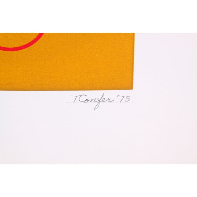 Circular Biomorphism Print by T. Confer, 1975 - Image 5 of 6