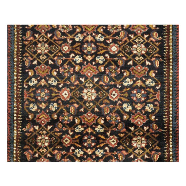 "Antique Persian Hamedan Rug - 4'6"" x 6'11"" For Sale - Image 5 of 5"