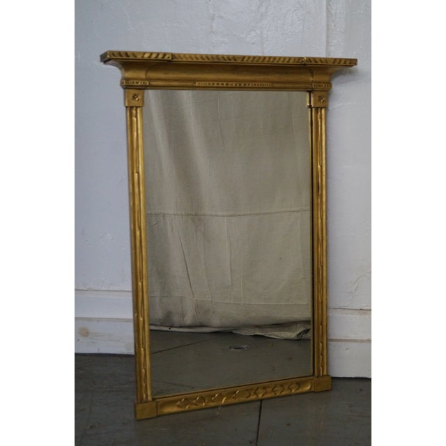 Store Item #: 14876-fwmr Antique Gilt Wood Impressionist Wall Mirror AGE/COUNTRY OF ORIGIN: Approx 100 years, America...