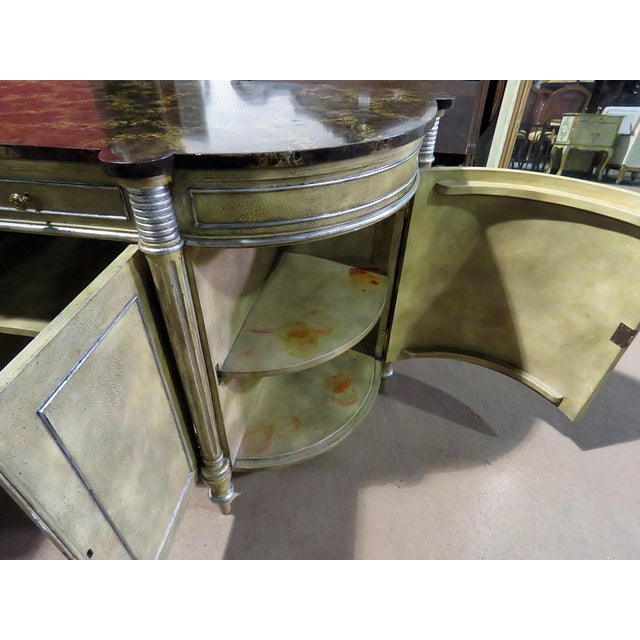 Maitland Smith Faux Marble Top Commode For Sale - Image 10 of 13