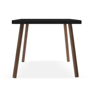 "Tippy Toe Small Square 23.5"" Kids Table in Walnut With Black Finish Accent Preview"
