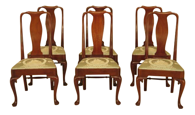 Colonial Williamsburg Mahogany Dining Chairs   Set Of 6 For Sale