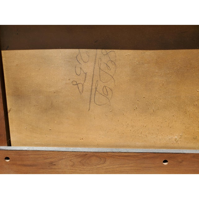 Wood Mid-Century Modern Walnut and Cane King Headboard Designed by Kipp Stewart for Calvin For Sale - Image 7 of 9
