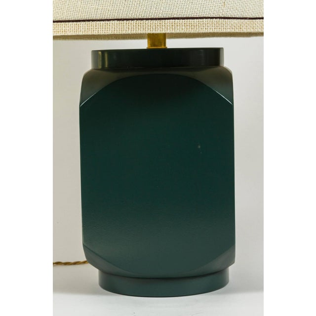 Martin and Brockett Modern Matte Lacquer Lamp - Image 2 of 5