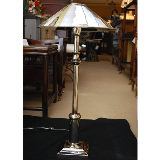 Chrome Candlestick Lamps - Pair - Image 3 of 6