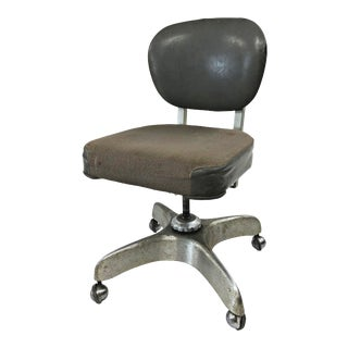 Vintage Industrial Swivel Office Chair For Sale