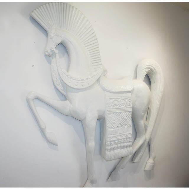 Art Deco Standing Etruscan Horse in the Style of Frederick Weinberg For Sale - Image 3 of 13