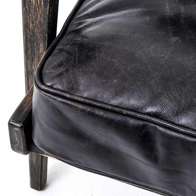 Mid-Century Modern Baxter Black Lounge Chair For Sale - Image 3 of 6