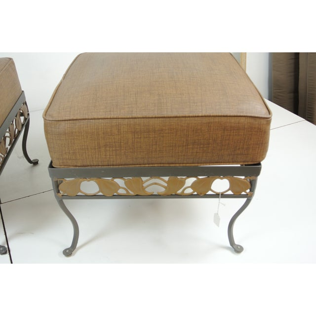 Brown Jordan Wrought Iron Club Chair Amp Ottoman Chairish