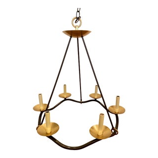 Brass & Iron Choros Chandelier by Visual Comfort For Sale