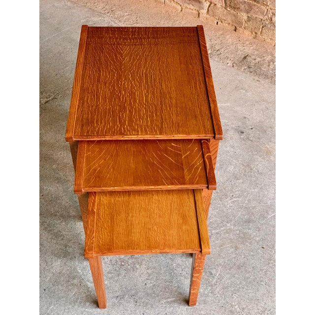 1950s Midcentury Gordon Russell Nest of Tables Set of Three Oak, 1950s - Set of 3 For Sale - Image 5 of 13