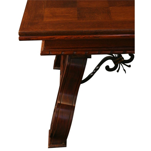 Renaissance Vintage French Renaissance-Style Dining Table For Sale - Image 3 of 12