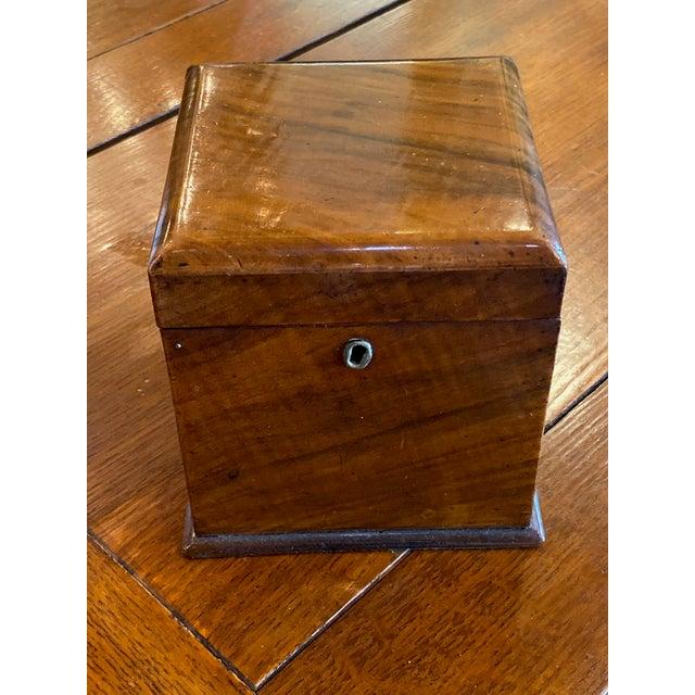 Antique Mahogany Tea Caddy For Sale In Dallas - Image 6 of 7